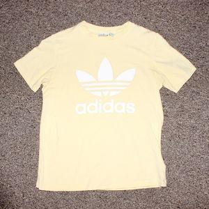 Yellow Adidas Trefoil T Shirt